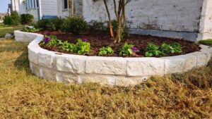 Building Stone Flower Bed Borders