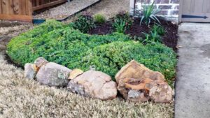 Hardscaping Boulder Stonework and Landscaping Bed