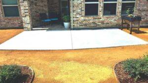 Poured Concrete Patio Extension