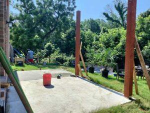 Pergola Posts Anchored to Concrete Patio Deck