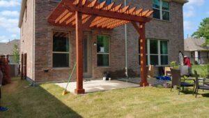 Building a Pergola Over a Patio
