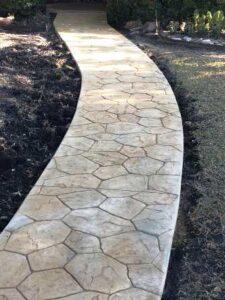 Wide Decorative Concrete Walkway