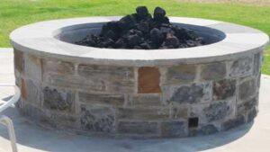 Stone Fire Pit Installation