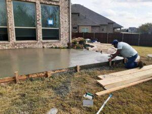 Hardscape Contractor Finishing Concrete Patio